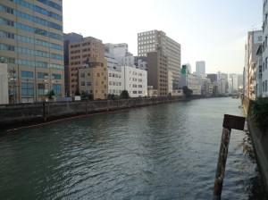 豊海橋からの景色(日本橋川のおわり)