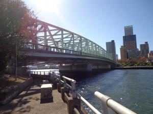 中の島公園からの景色(相生橋)