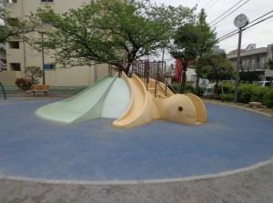 塩浜公園 カメのすべり台