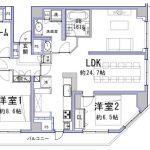 2SLDK(3SLDKへ変更可)「(間取)