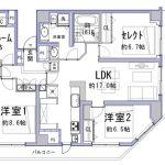 3SLDK(2SLDKへ変更可)(間取)
